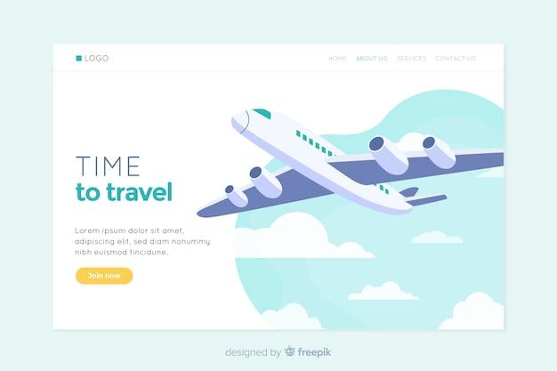 Traveling landing page web design
