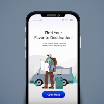 Traveling online kit maps application