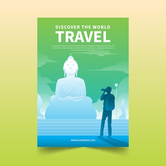 Концепция шаблона путешествия плакат