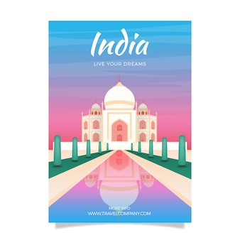 Traveling poster template illustrated