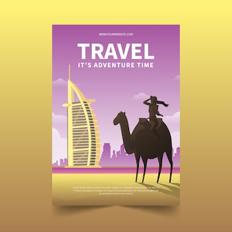 Traveling poster template theme