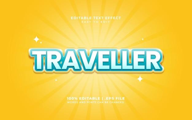 Текстовый эффект в стиле путешественника