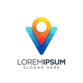 Travelling logo map pin
