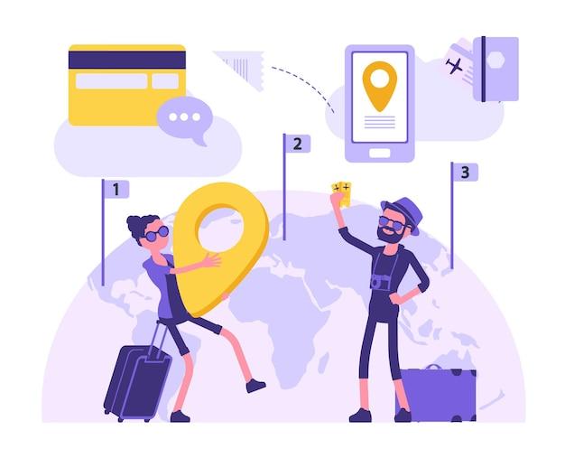 여행하는 사람들은 여행을 한다
