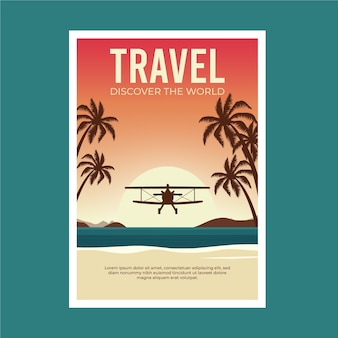 Путешествующий плакат экзотического направления