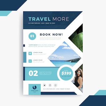 Travelling poster template with abstract elements