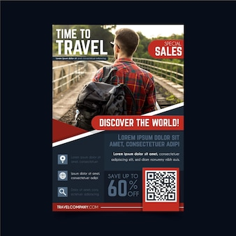 Travelling sales flyer template