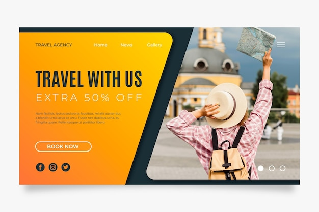 Travelling sales landing page template