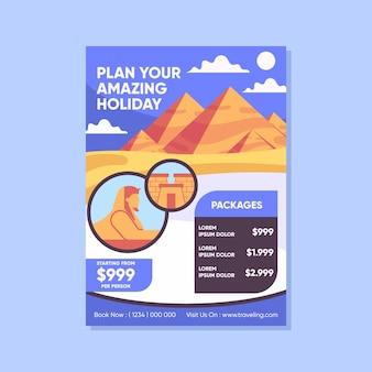 Modello di poster di vendita itinerante illustrato
