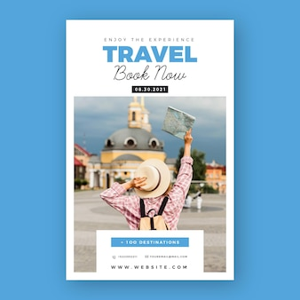 Travelling sales poster template