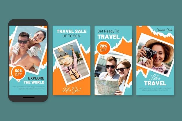 Pacchetto di storie sui social media di vendita itinerante