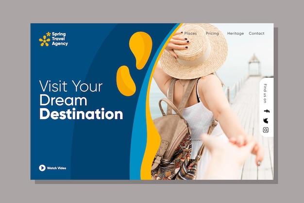 Travelling sales web page template