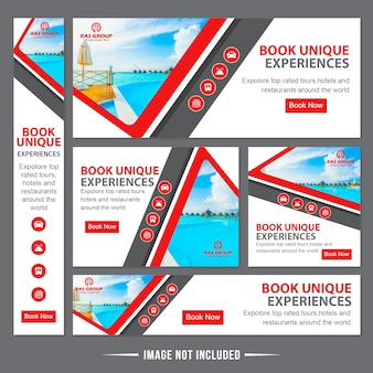 Travels web banner ads template