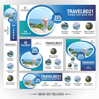 Travels web banner template
