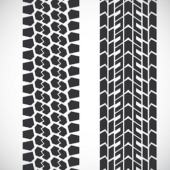トレッドパターンタイヤ。