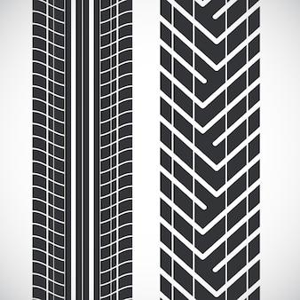 트레드 패턴 타이어.