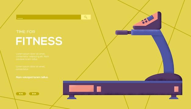 Флаер концепции беговой дорожки, веб-баннер, заголовок пользовательского интерфейса, введите сайт. текстура зерна и шумовой эффект.