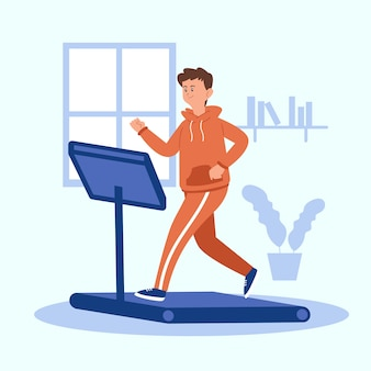 Treadmill warm-up exercises indoors