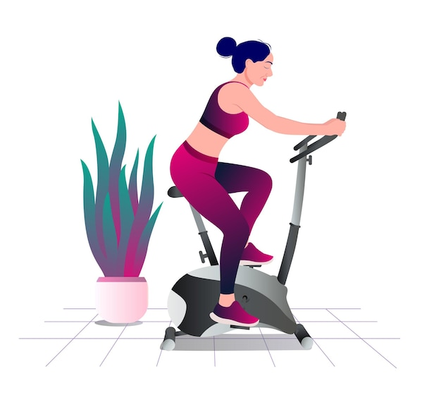 Treadmill workout fitness aerobic and exercises