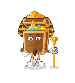 The treasure ancient egypt cartoon. cartoon mascot