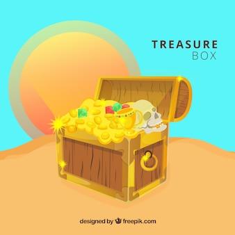 宝箱の背景