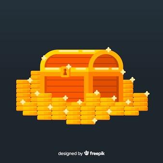 Treasure box background