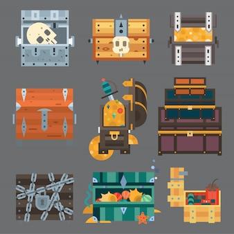 Treasure chest illustration.