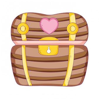 Treasure chest isolated icon