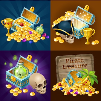 Treasure chests collection.