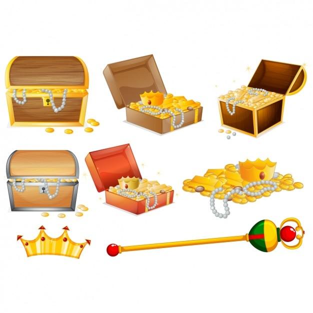 treasure vectors photos and psd files free download rh freepik com treasure chest vector art treasure chest vector art