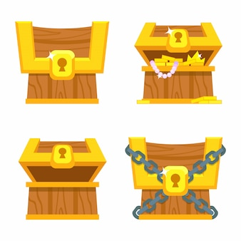 Treasure chests for game.