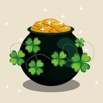 Treasure coins saint patrick day