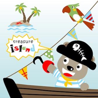 Treasure hunter cartoon vector