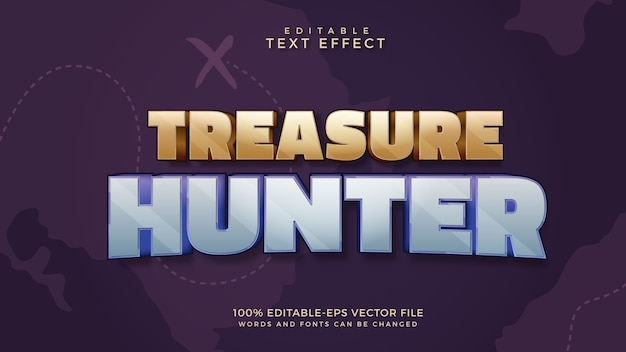 Treasure hunter editable text effect