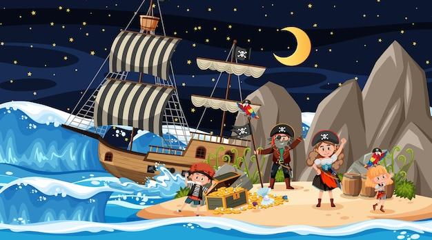 해적 아이들과 함께 한 밤의 보물섬 장면