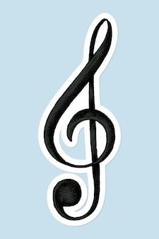 Illustrazione della chiave di violino
