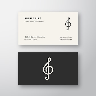 Treble clef sign abstract logo