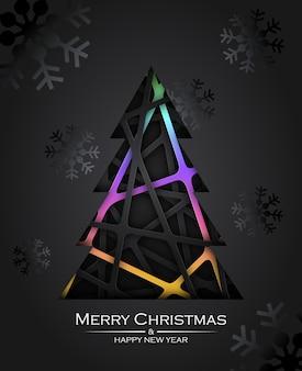 Tree abstrack christmas card