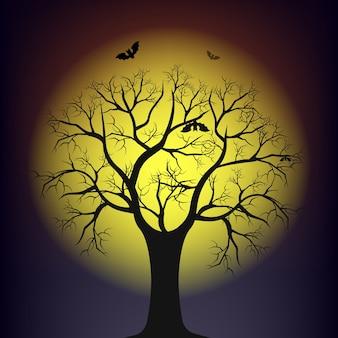 Дерево против луны