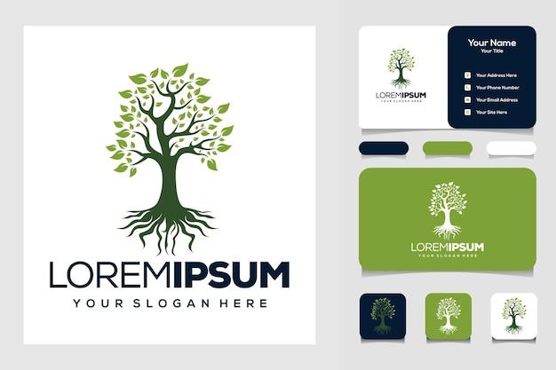 나무와 뿌리 로고 디자인 및 명함