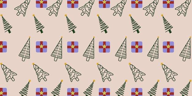 木の背景パターンメリークリスマス