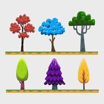 나무 만화 자산