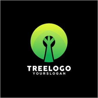 Tree colorful logo design template