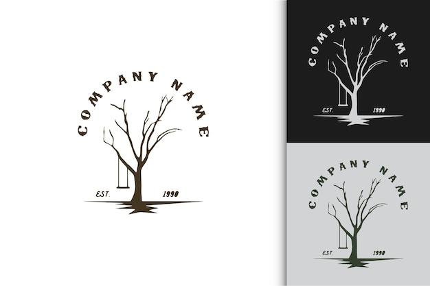 ツリーコンセプトシンプルなロゴ