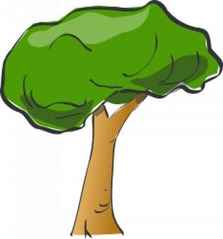 나무 그리기 벡터