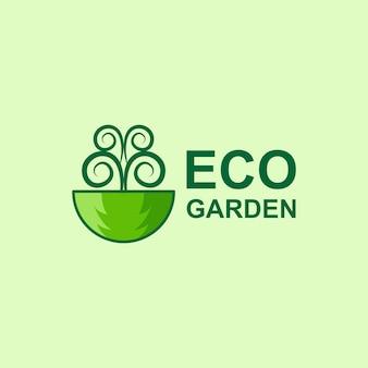 Tree eco garden logo template design vector