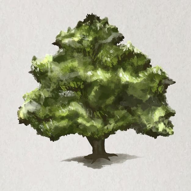 Tree element vector oak tree