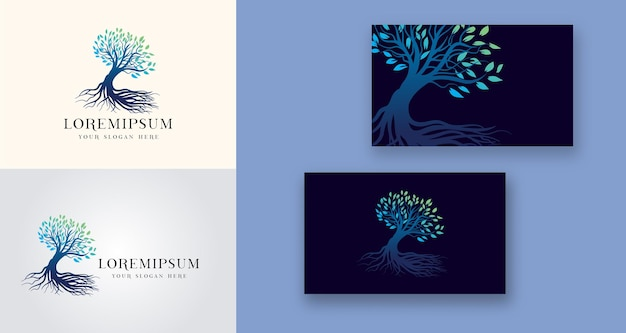 Tree holistic health medical logo