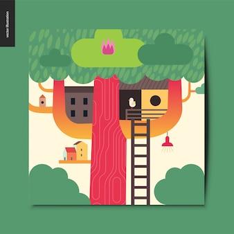 Tree house card