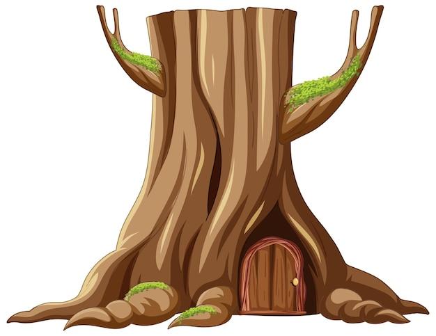 나무 줄기 안의 나무 집